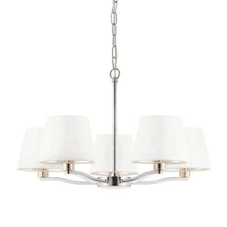 Harvey 5 Light Pendant in Nickel Finish