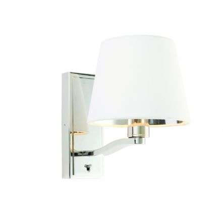 Harvey Wall Light in Nickel C/W Shade
