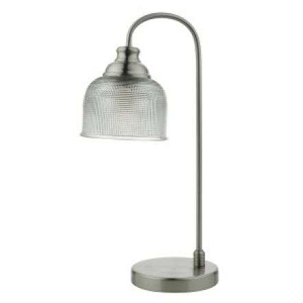 Hector Touch Table Lamp Satin Nickel Decorative Glass