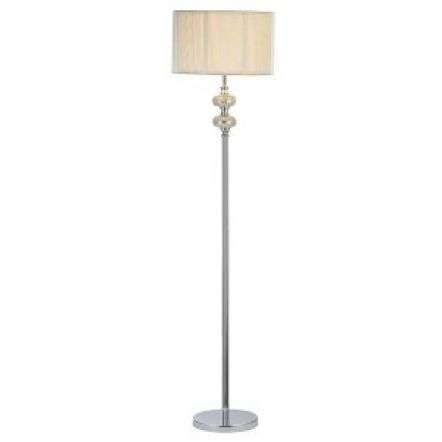 Hewitt Floor Lamp Silver Mosaic C/W Silver String Shade