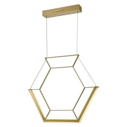 Hexagon 1 Light Pendant Gold LED