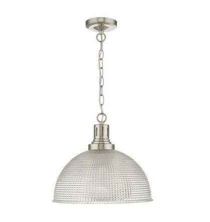 Hodges 1 Light Glass Satin Nickel/ Clear