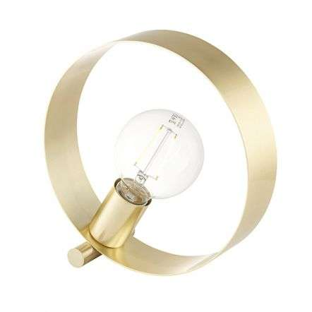 Hoop Table Lamp in Brushed Brass Finish