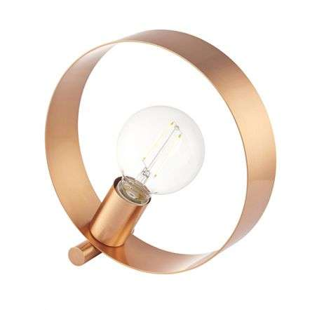 Hoop Table Lamp in Brushed Copper Finish