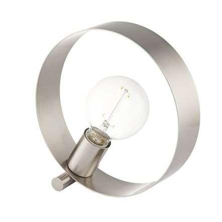 Hoop Table Lamp in Brushed Nickel Finish