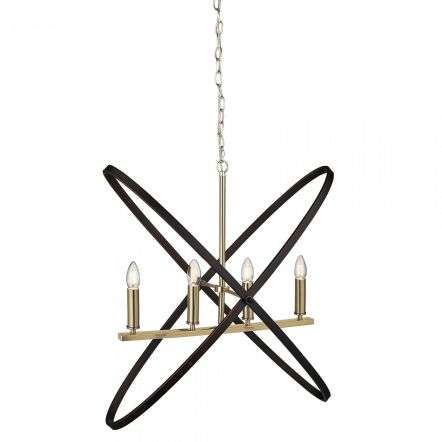Hoopla 4 Light Pendant Bronze