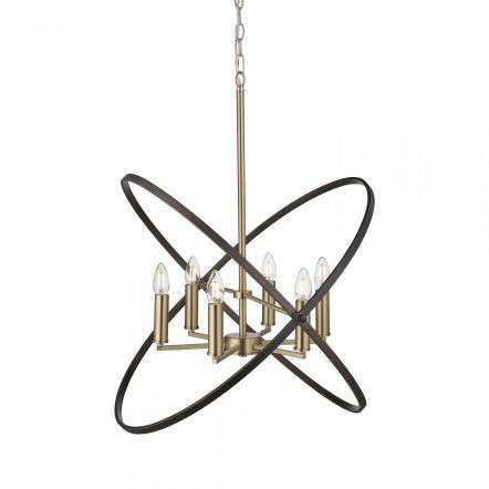 Hoopla 6 Light Pendant Bronze