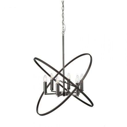 Hoopla 6 Light Pendant Peweter