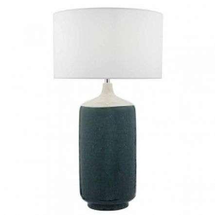 Hulda Table Lamp Green & White Base Only
