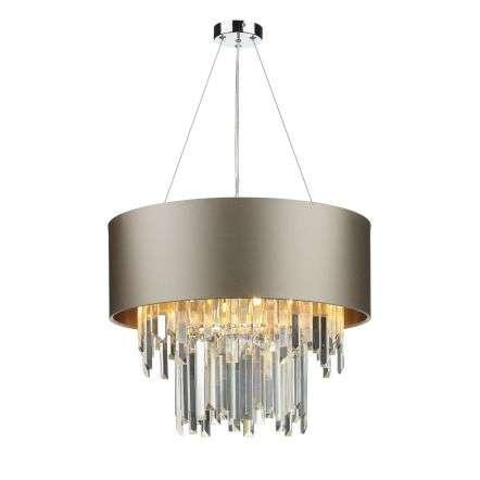 Hurley 6 Light Shaded Crystal Chandelier