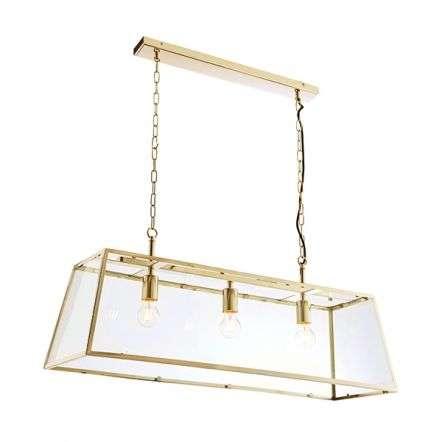 Hurst 3 Light Pendant in Antique Brass Finish