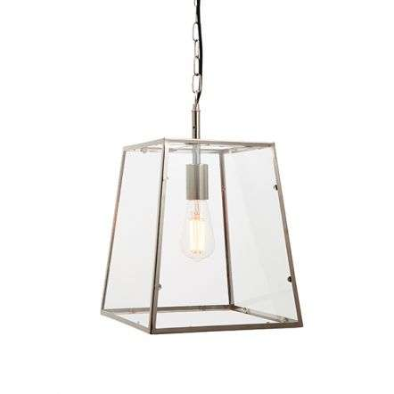 Hurst Box Style Single Pendant in Nickel Finish