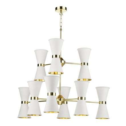 Hyde 18 Light Arctic Light White Chandelier