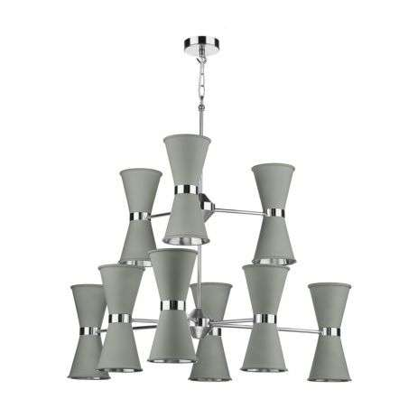 Hyde 18 Light Chandelier Polished Chrome (Bespoke Colours Available)