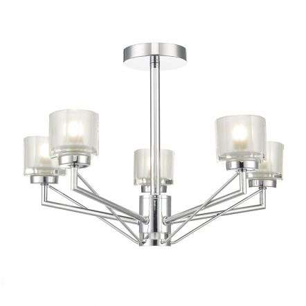 Hylo 5 Light Semi Flush Polished Chrome