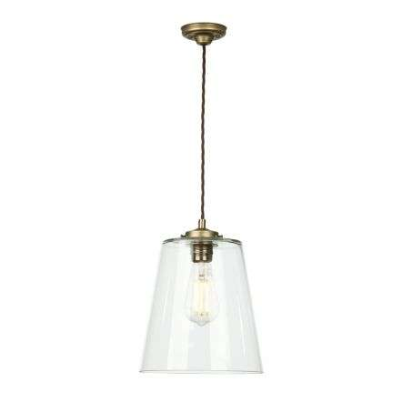 Ibsley single pendant in aged brass