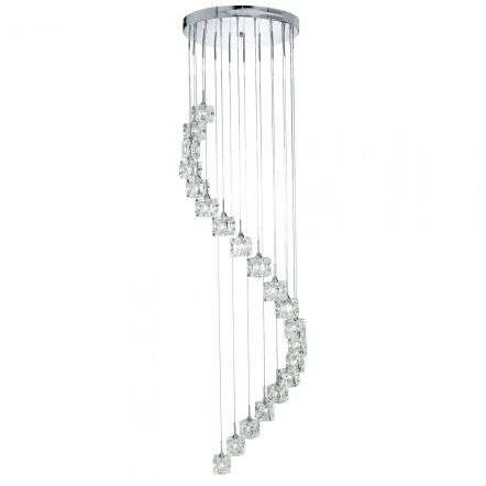 Ice Cube Dimmable LED 20 Light Multi-Drop Chrome