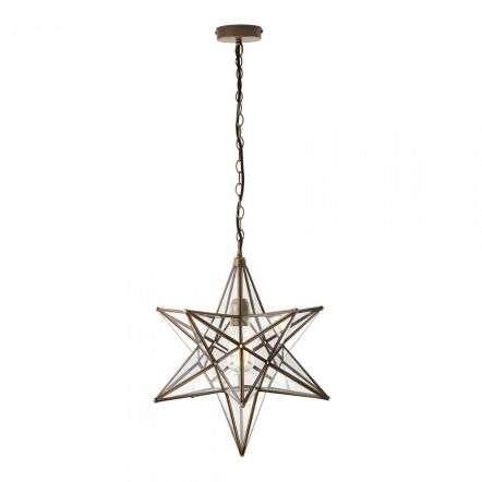 Ilario Pendant Antique Brass & Glass