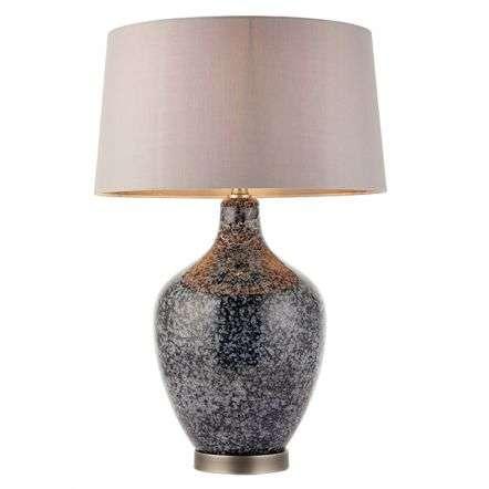 Ilsa Black & Grey Table Lamp C/W Shade