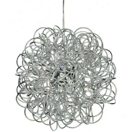 Industrial Chrome Messy Wire Ceiling Pendant Light