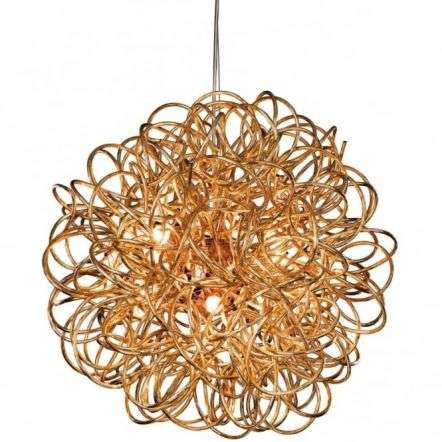 Industrial Copper Messy Wire Ceiling Pendant Light