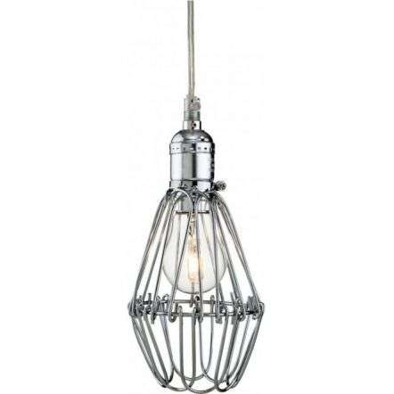 Industrial Retro Chrome Large Paperclip Ceiling Pendant