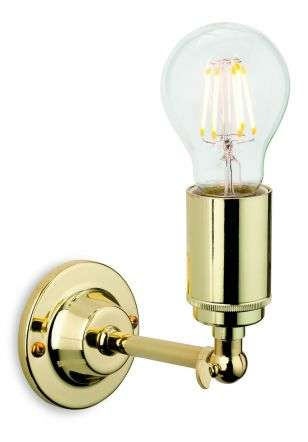 Indy Wall Light in Polished Brass Finish