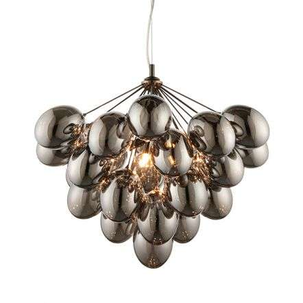 Infinity 6 Light Pendant with Electro Plated Glass Shades