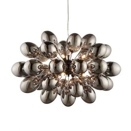 Infinity 8 Light Pendant with Electro Plated Glass Shades