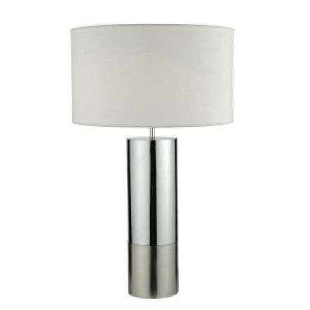 Ingleby TL 2Tone Base Polished Chrome & Brushed Chrome C/W White Shade