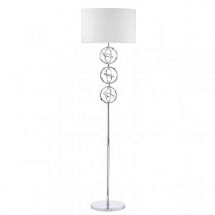 Innsbruck Floor Lamp Polished Chrome C/W Ivory Shade