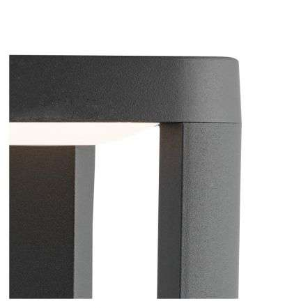 IP44 Grey LED Outdoor Post Light With Clear Diffuser