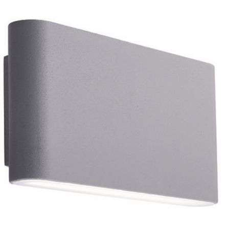 Ip44 Grey Led Outdoor Wall Light With Frosted Diffuser