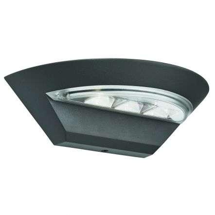 Ip44 Grey Led Semi-circle Outdoor Wall Light