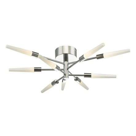 Isidora 9lt Semi-Flush Polished Chrome LED