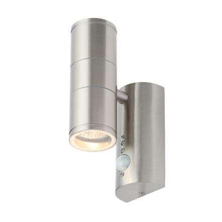 Islay PIR Stainless Steel Up & Down Wall Light