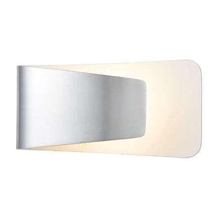 Jenkins LED Wall Light in Polished Aluminium & Matt White Finish
