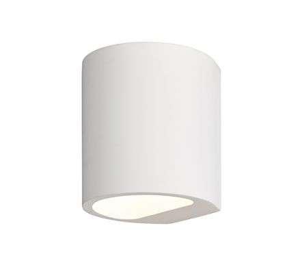 Joakim LED Wall Light in White Plaster Finish