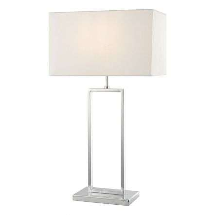Joffrey Table Lamp Polished Chrome C/W Shade