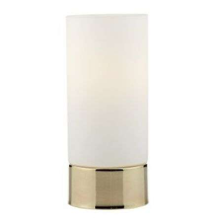 Jot Touch Table Lamp Gold C/W Glass Shade