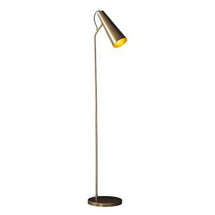 Karna Antique Brass & Gold Floor Lamp