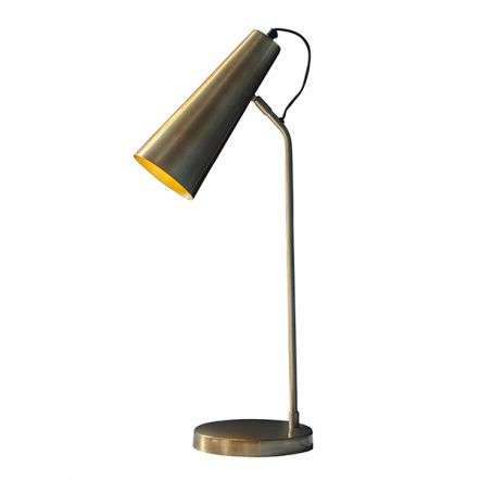 Karna Antique Brass & Gold Table Lamp