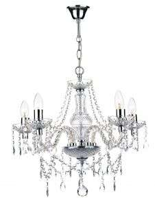 Katie 5-light polished chrome crystal chandelier