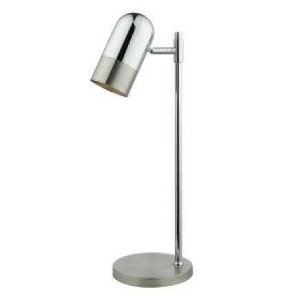 Kazan Table Lamp Satin Chrome & Polished Chrome