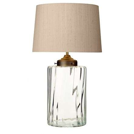Kew Table Lamp Clear Glass Base Only