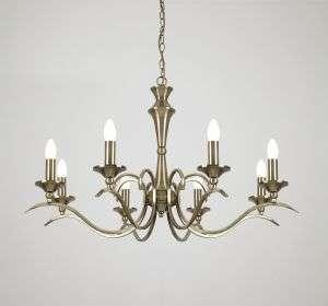 Kora 8-Light Antique Brass Fitting