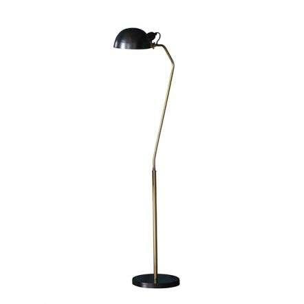 Largo Floor Lamp in Satin Black & Aged Brass Finish