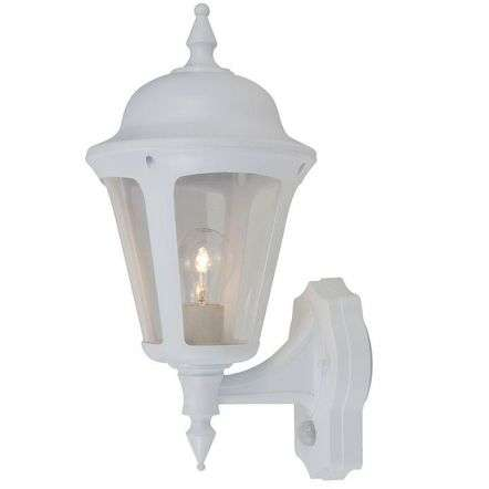 Latina Polycarbonate PIR Outdoor Wall Lantern in White