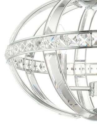 Laura 3 Light Oval Pendant Polished Chrome