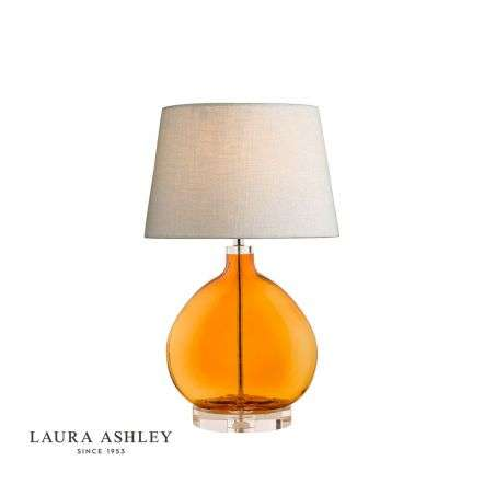Laura Ashley Amber Glass Table Lamp Base